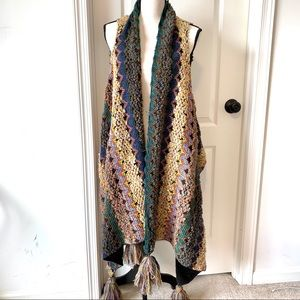 Sweaters - Delicate Colorful Woven Yarn sweater Vest—One Size